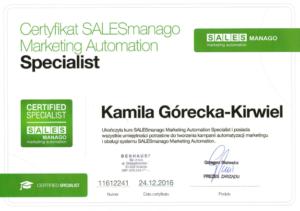 Kamila Górecka-Kirwiel Specjalista Marketing Automation