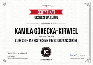 Kamila Górecka-Kirwiel SEO