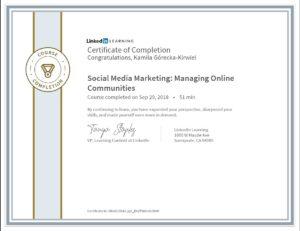 Kamila Górecka - Kirwiel - Social Media Marketing Budowanie Społeczności