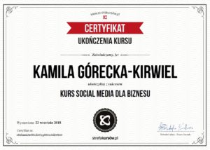 Kamila Górecka-Kirwiel Specjalista Social Media